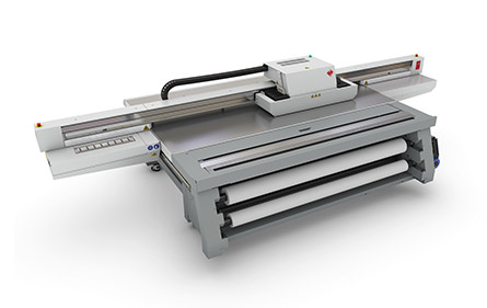 Photo of UV Flatbed Printer.